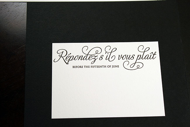 How To Fill Out A Blank Wedding Response Card