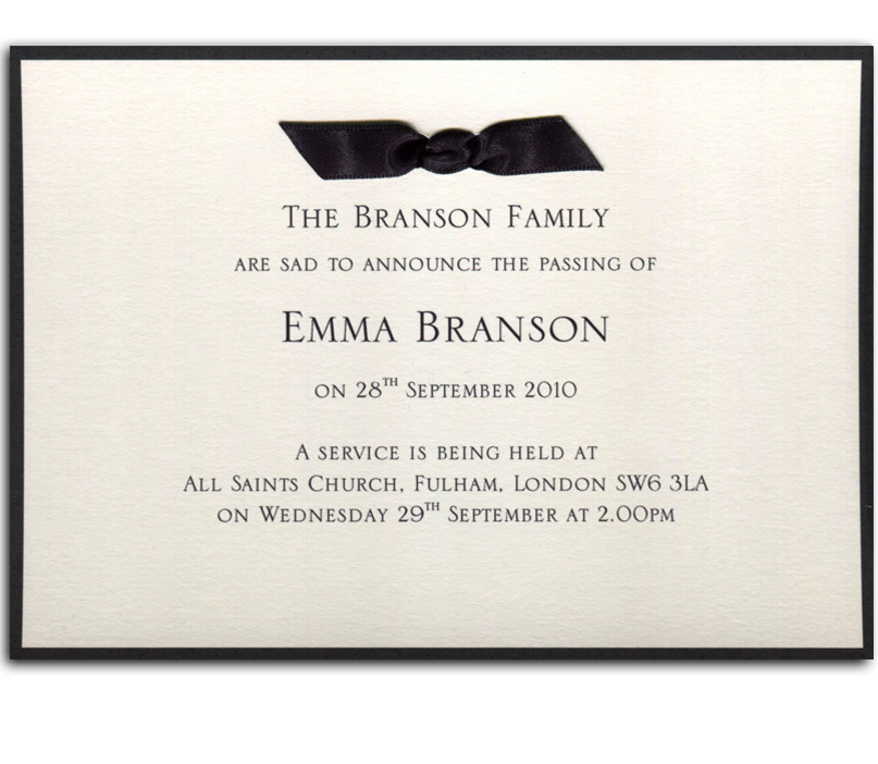 Memorial Service Invitation Samples – Memorial Service Invitation Template